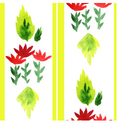 watercolored floral seamless decoration vector image