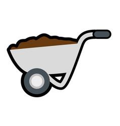 Wheelbarrow tool icon vector