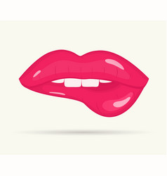 womens lip on white background vector image