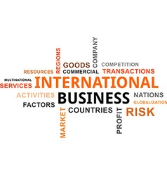 word cloud international business vector image vector image