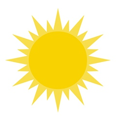 Yellow Summer Sun Shining vector image vector image