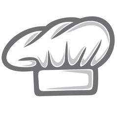 white chef hat vector image