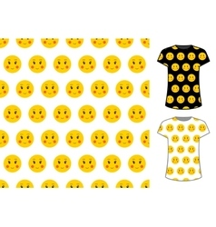 Smile sign seamless pattern good for textile and vector
