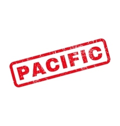 Pacific rubber stamp vector
