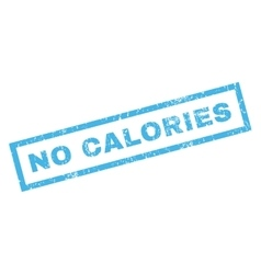 No calories rubber stamp vector