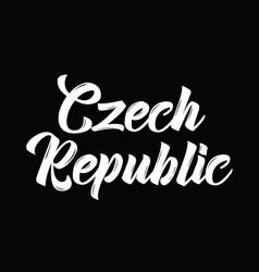 Czech republic text design calligraphy vector