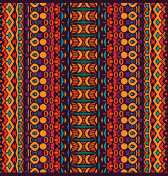 Seamless pattern stripes multicolor vector