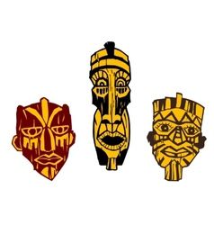 Ancient masks vector
