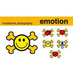 Emotion crossbones vector