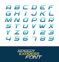 Sport font dynamic motion italic letters and vector