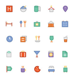 Hotel and Restaurant Colored Icons 1 vector image