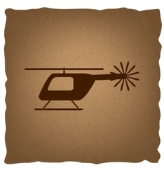 Helicopter sign vintage effect vector