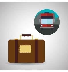 Travel design trip icon flat vector