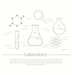 Modern logotype icon laboratory chemistry vector