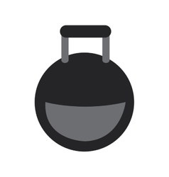 Kettlebell weight icon vector