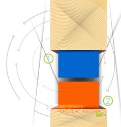 Colors square shape vector