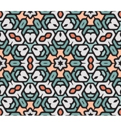 Seamless Colorful Rounded Floral Oriental vector image