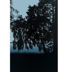 a tree print T-shirt vector image