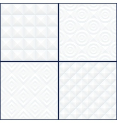 Abstract geometric patterns set vector