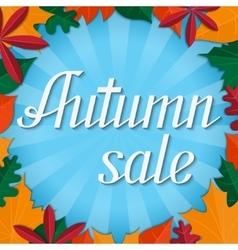 Autumn sale lettering design template vector