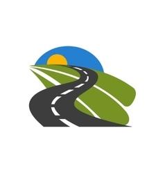 black car road icon vector image