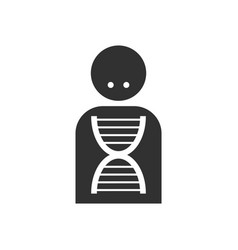 Black icon on white background silhouette with dna vector