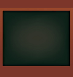 black school chalkboard with frame template for vector image