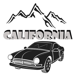 California republic retro emblem vector