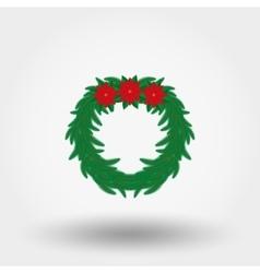 Christmas wreath flat vector