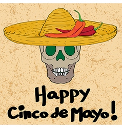 Cinco de mayo skull vector