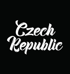 Czech republic text design calligraphy vector