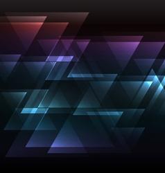Dark rainbow abstract triangle overlap background vector