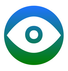 eye sign white icon in vector image vector image