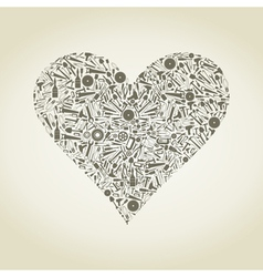Heart the tool vector image vector image