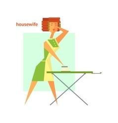 Houswife Ironing Abstract Figure vector image vector image