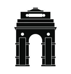 India gate new delhi india icon simple style vector
