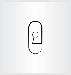 keyhole icon design vector image