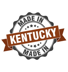 Made in kentucky round seal vector