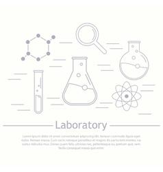 Modern logotype icon laboratory chemistry vector