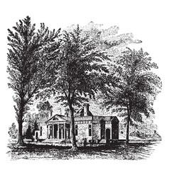 Monticello jeffersons home vintage vector