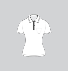 polo shirt outline on white background5 01 vector image vector image