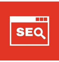 The SEO icon WWW and browser development search vector image vector image