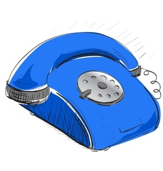 Vintage phone vector image vector image