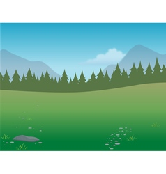 Wilderness background vector