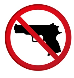 No guns allowed sign vector