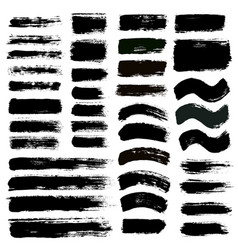 brush strokes set 12 vector image