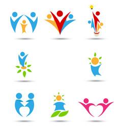 human icons and symbols vector image
