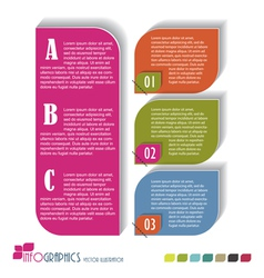 Modern Design template Seven color included vector image