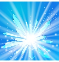A crystal with rays vector