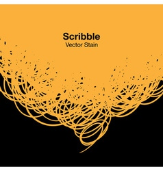 Scribble yellow background for your design vector